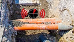 Underground cable fault locator with PIC16F877A