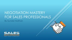 Negotiation Mastery for Sales Professionals