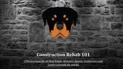 Rehab Construction for Real Estate Investing