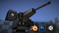 Blender - creating a game asset of the turret