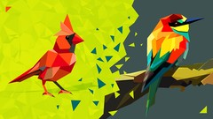 Triangulated Bird: Origami Styled Bird in Adobe Illustrator