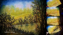 Landscape Oil Pastel Painting Lesson