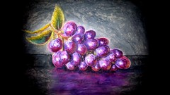 Grapes Oil Pastel Painting Lesson
