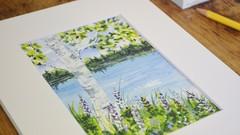 Beginner Watercolor Painting - Birch Tree Easy Art Steps