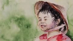 Realistic Portrait: Paint A Vietnamese Child In Watercolor