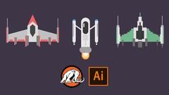 Create Flat Design Spaceships in Adobe Illustrator!