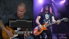 Learn lead & rhythm guitar in the style of Slash