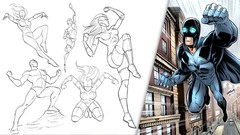 How to Draw Dynamic Comic Book Superheroes - Start to Finish