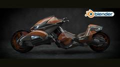Imágen de Diseño de una motocicleta de ciencia ficción con blender (2)