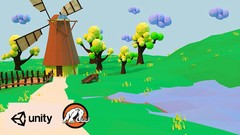 Make a 3D Unity® Action Game & Low Poly Buildings in Blender