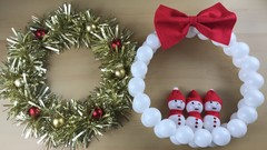 Christmas Wreaths and Snowflakes