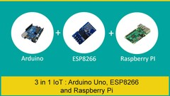 3 in 1 IoT Bundle : Arduino Uno, ESP8266 and Raspberry Pi