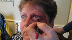 Special Effects Makeup - Black Eyes and Broken Noses