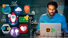ÍCONES - FLAT ICON e UX ICON p DESIGN - 2 cursos em 1- icone