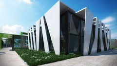 Master 3ds max , V-ray , Photoshop : 3D render The Museum