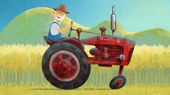 Draw classic tractor