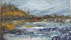 Beginner Impressionism Seascape Painting Water Mixable Oil