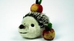 Learn to Needle Felt a Hedgehog with an Apple