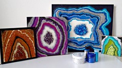 Resin Geode Basics: How to create sparkling geode art works