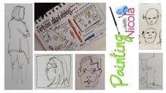 URBAN sketchers, BASIC, EASY tips to  put people in scenes.
