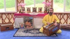 Playing Harmonium for Devotional Chanting