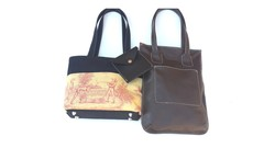 Learn to sew fabric and leather tote handbags