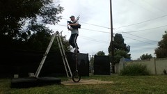Want to Learn to balance on a free standing ladder?
