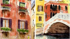 How to paint my two watercolor paintings from Venice holiday