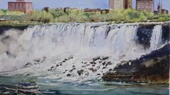 Niagara - American Falls in Watercolour