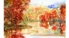 Learn how to paint my watercolor painting Fall impression.