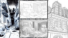Drawing Amazing Backgrounds with Perspective - Step by Step