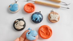 Make Projecting Animals Pendants and their Molds