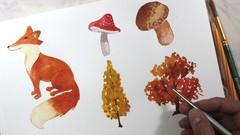 Painting Autumn in Watercolors - SketchBook Everyday Series