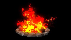 2D Animation of a Fire Pit in After Effects for Beginners