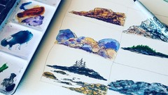 How to Paint Rocks in Watercolor  -  6 Demos
