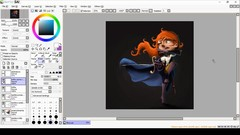 My artwork process: painted character