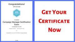 Google Ads Campaign Manager Certification Practice test 2019