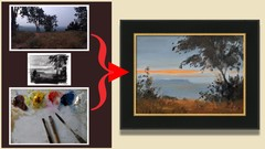 Photo To Painting A Landscape In Oil - Contemplation