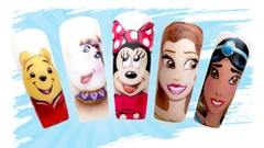 Fabulous Character Painting on Nails