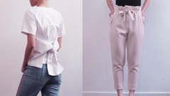 Learn How To Sew a Geometric Bow Top + Paperbag Pants