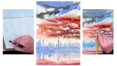 How to paint a City skyline (New York).In superb watercolor.