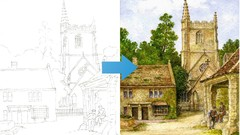 Paint Castle Combe in Watercolor | Learn Watercolor Skills