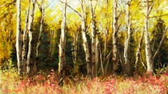 Learn to Paint Fall Aspen Trees Step-by-Step