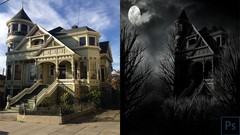 Photoshop CC 2019: Create An Eerie Haunted-House in one hour