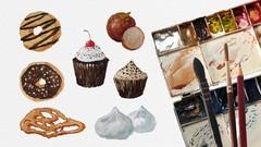 SketchBook Everyday : Painting Sweet Treats in Watercolor