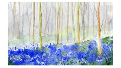 """How to paint my """"Bluebell Woods"""" like a professional artist."""