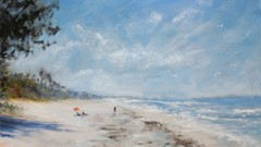 Learn to Paint a Tropical Beach Step-by-Step