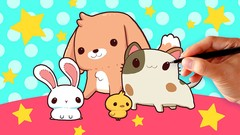 How to Draw Cute Kawaii Cartoon Animal