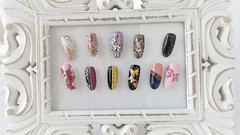 Nail Art Course - More Techniques, Modern Nail Designs