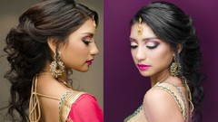 Indian Bridal Hairstyling : Cascading Curls